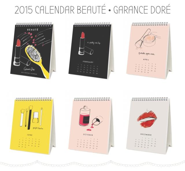 Beauty Drops | Calendário 2015 Garance Doré